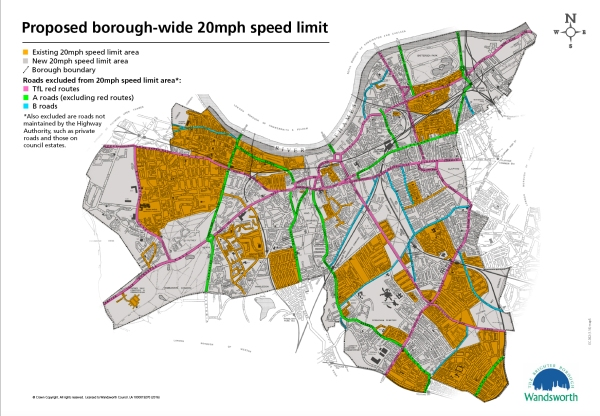 FAQs Wandsworth Living Streets - Map of speed limits in us