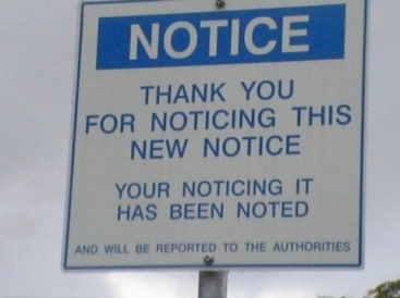 Thank You for Noticing this New Notice ...
