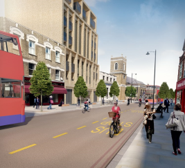 Wandsworth High Street with gyratory removed